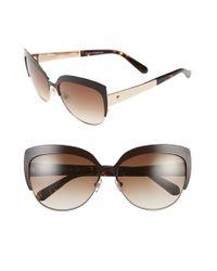 Kate Spade   'raelyn' 59mm Cat Eye Sunglasses - Demi Brown Foil   Lyst