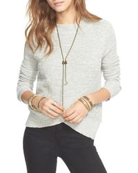 Free People - Black Crossover Sweater - Lyst