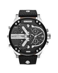 DIESEL - Black Diesel 'mr. Daddy 2.0' Chronograph Watch for Men - Lyst
