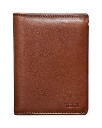 Tumi Brown 'chambers' Leather L-fold Wallet for men