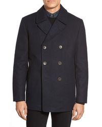 Vince Camuto | Blue Classic Peacoat for Men | Lyst