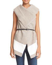 Joie | Multicolor 'ligiere' Sleeveless Boiled Wool Sweater | Lyst