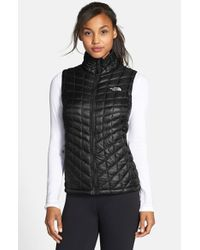 The North Face - Black 'Thermoball' Primaloft Vest - Lyst