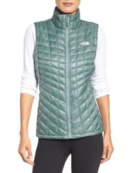 The North Face | Green Thermoball Primaloft Vest | Lyst
