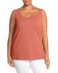 NIC+ZOE - Pink 'perfect' Scoop Neck Tank - Lyst