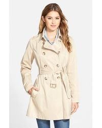 Guess | Natural Piped Fit & Flare Trench Coat | Lyst
