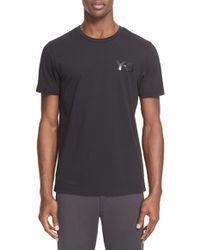 Y-3 | Black 'classic' Logo Print T-shirt for Men | Lyst