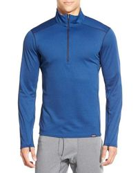 Patagonia | Blue 'capilene Midweight' Base Layer Half Zip T-shirt for Men | Lyst