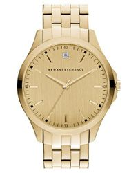 Armani Exchange - Metallic Diamond Marker Bracelet Watch for Men - Lyst