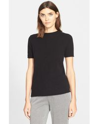 Theory - Black 'tolleree' Short Sleeve Cashmere Pullover - Lyst