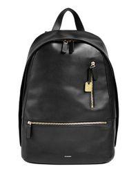Skagen   Black 'kroyer 2.0' Leather Backpack for Men   Lyst