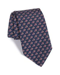 Vineyard Vines | Blue 'atlanta Braves - Mlb' Print Silk Tie for Men | Lyst