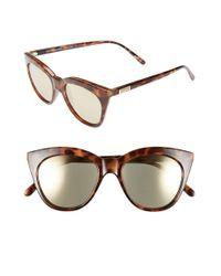 Le Specs | Brown Halfmoon Magic 51mm Cat Eye Sunglasses | Lyst