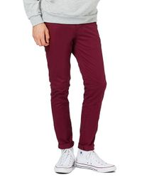 TOPMAN - Blue Stretch Skinny Fit Chinos for Men - Lyst
