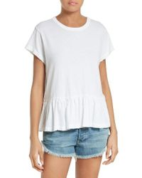 The Great - White The Ruffle Tee - Lyst
