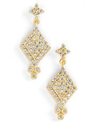 Freida Rothman | Metallic 'metropolitan' Pave Drop Earrings | Lyst