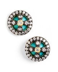 Freida Rothman | Green 'metropolitan' Small Stud Earrings | Lyst