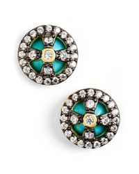 Freida Rothman - Green 'metropolitan' Small Stud Earrings - Lyst
