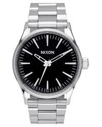 Nixon | Metallic 'the Sentry' Bracelet Watch for Men | Lyst