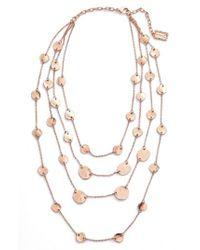 Karine Sultan - Metallic Manon Layered Necklace - Lyst