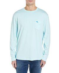 Tommy Bahama   Purple 'bali Skyline' Long Sleeve Pima Cotton T-shirt for Men   Lyst