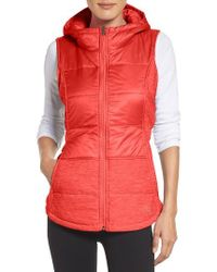 The North Face | Red 'pseudio' Quilted Vest | Lyst