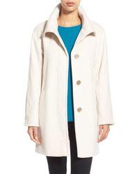 Ellen Tracy   Brown Convertible Collar Kimono Sleeve Coat   Lyst