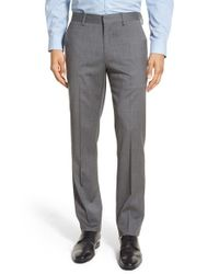 Bonobos | Blue Jetsetter Slim Fit Flat Front Solid Stretch Wool Trousers for Men | Lyst
