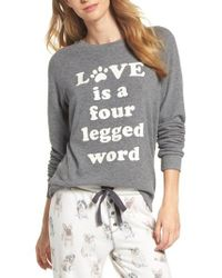 Pj Salvage - Gray Love Lounge Pullover - Lyst