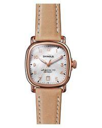 Shinola - Metallic The Guardian Leather Strap Watch - Lyst