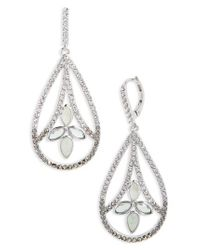 Judith Jack - Metallic Lakeside Crystal Drop Earrings - Lyst