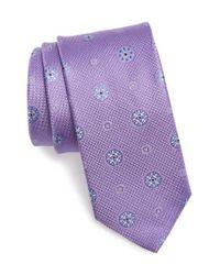 John W. Nordstrom   Purple Medallion Silk Tie for Men   Lyst
