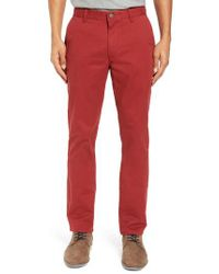 Bonobos - Blue Tailored Fit Washed Stretch Cotton Chinos for Men - Lyst