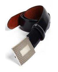 Bosca - Black Leather Belt for Men - Lyst