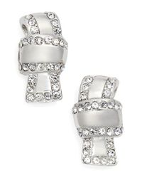 Kate Spade | Metallic All Tied Up Pave Stud Earrings | Lyst