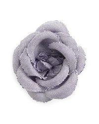 Hook + Albert | Purple Chambray Lapel Flower | Lyst