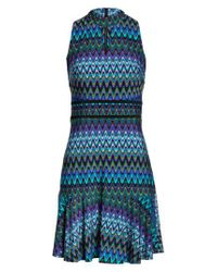 Taylor Dresses | Blue Sleeveless Jersey Sheath Dress | Lyst