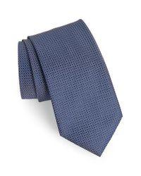 Brioni - Blue Neat Geometric Silk Tie for Men - Lyst