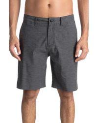 Quiksilver - Black Union Heather Amphibian Shorts for Men - Lyst