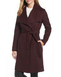 Tahari   Multicolor Ellie Double Face Wool Blend Wrap Coat   Lyst