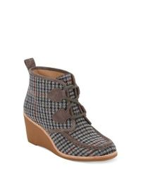 G.H. Bass & Co. - Gray Rosa Wedge Bootie - Lyst