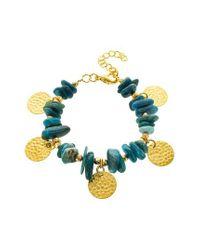 Panacea - Blue Chip Stone Disc Bracelet - Lyst