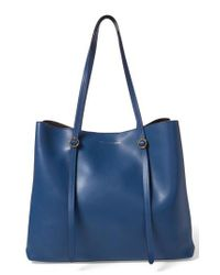 Polo Ralph Lauren - Blue Lennox Leather Tote - Lyst