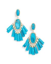 Kendra Scott - Blue Kristen Earrings - Lyst