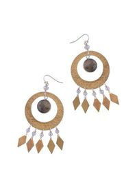 Nakamol - Gray Labradorite & Imitation Pearl Statement Earrings - Lyst