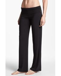 Calvin Klein | Black 'essentials' Roll Waist Pants | Lyst