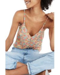 Madewell - Multicolor Floral Button Down Silk Camisole - Lyst
