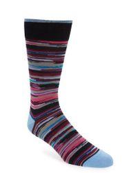 Bugatchi Blue Cotton Blend Socks