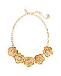 Kate Spade - Metallic Precious Poppies Frontal Necklace - Lyst