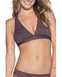Maaji - Purple Fig Swirl Reversible Bikini Top - Lyst